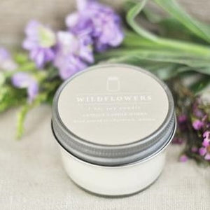 Wildflowers 4 oz. Mason Jar Candle