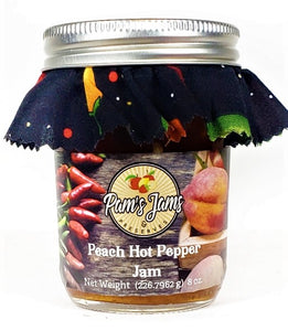 Peach Hot Pepper Jam 8 oz.