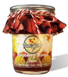 Raspberry Mango Jam 8 oz.