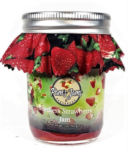 Seedless Strawberry Jam 8 oz.