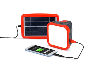 d.light S500 solar powered lantern with phone charging