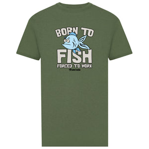 Born To Fish - Light Green
