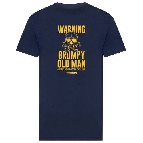 Warning Grumpy - Navy