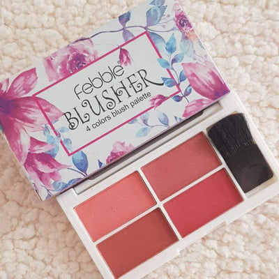 Febble Blusher Palette - 4 Color -  | Cosmetics Diary