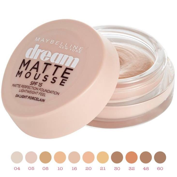 Maybelline New York Dream Matte Mousse Foundation SPF 15 (Packaging May Vary)