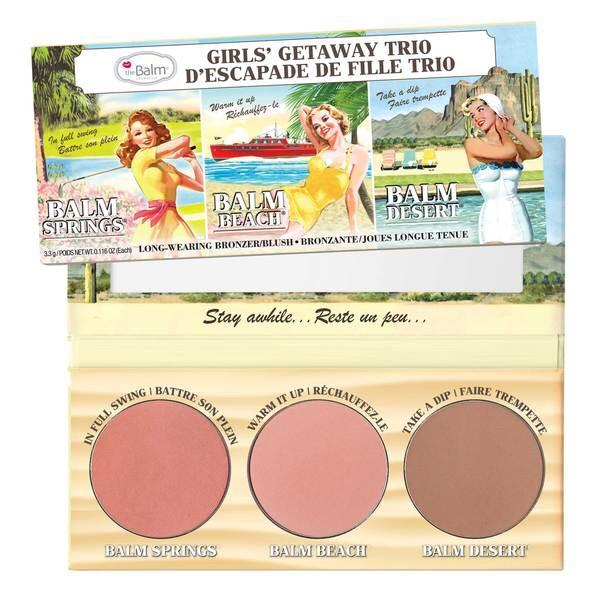 theBalm Girls' Getaway Trio - Long wearing Bronzer/Blush