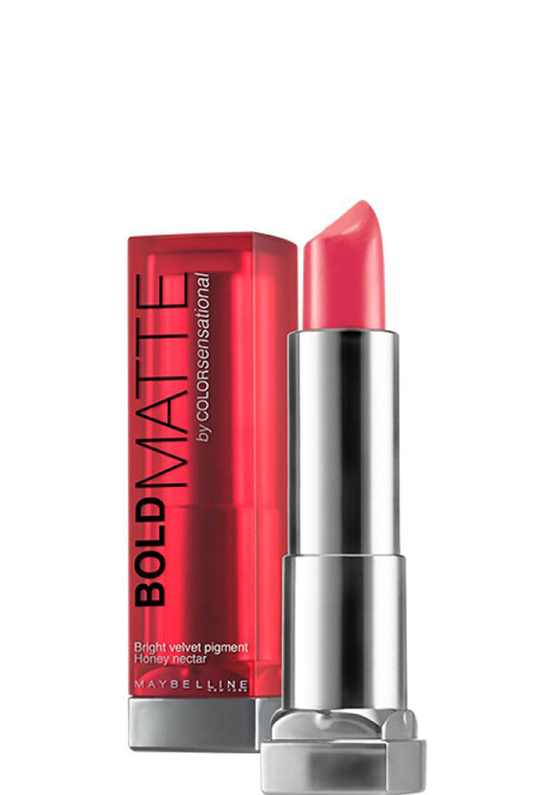 Maybelline New York Color Sensational Bold Matte Lipstick - Mat1 Coral 323 - Cosmetics Diary