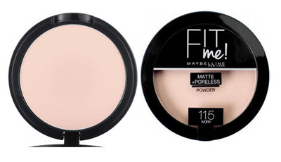 Maybelline New York Fit Me Matte + Poreless Powder - Ivory 115 | Cosmetics Diary