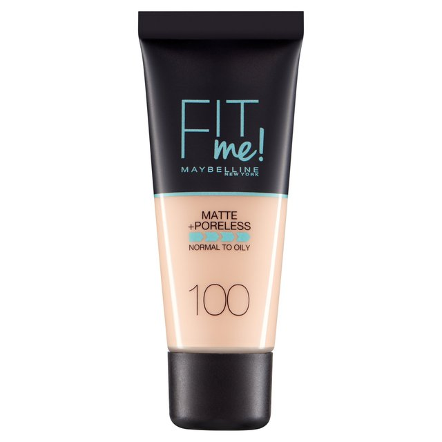Maybelline New York Fit Me Matte + Poreless Foundation - Warm Ivory 100 | Cosmetics Diary