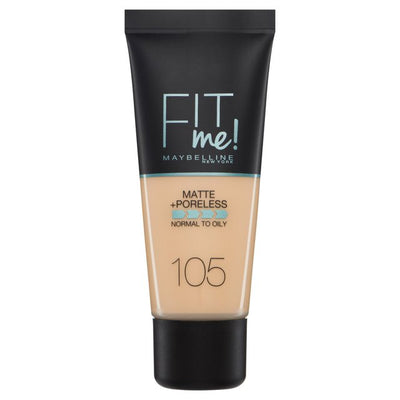 Maybelline New York Fit Me Matte + Poreless Foundation - Natural Ivory 105 | Cosmetics Diary
