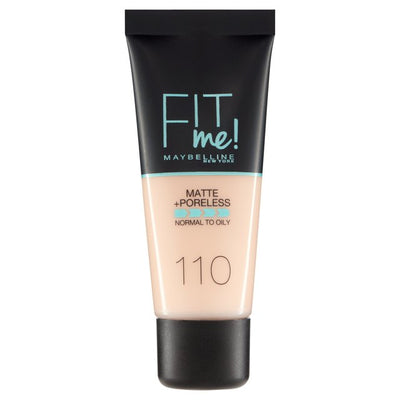 Maybelline New York Fit Me Matte + Poreless Foundation - Porcelain 110 | Cosmetics Diary