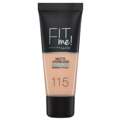 Maybelline New York Fit Me Matte + Poreless Foundation - Ivory 115 | Cosmetics Diary