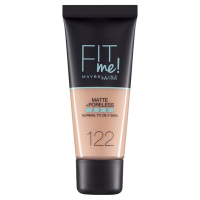 Maybelline New York Fit Me Matte + Poreless Foundation - Creamy Beige 122 | Cosmetics Diary