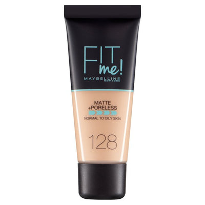 Maybelline New York Fit Me Matte + Poreless Foundation - Warm Nude 128 | Cosmetics Diary