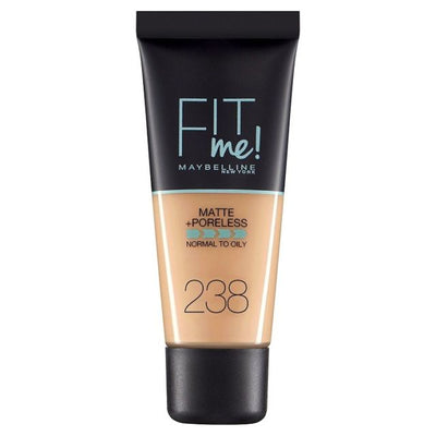 Maybelline New York Fit Me Matte + Poreless Foundation - Rich Tan 238 | Cosmetics Diary