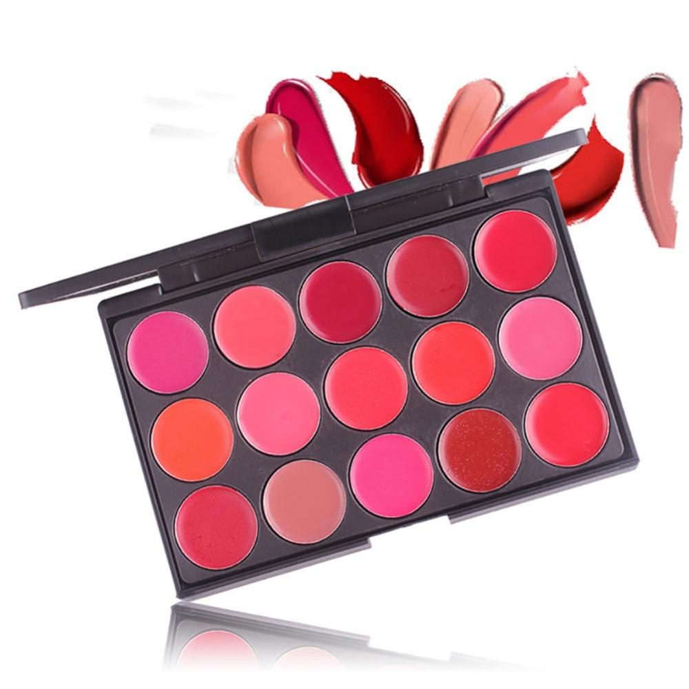Miss Rose 15 Colors Matte Lipstick Palette Waterproof