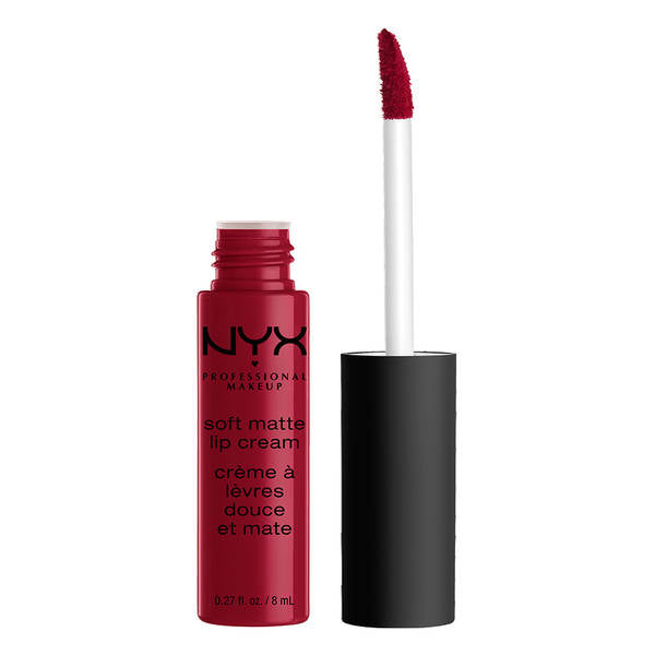 NYX Professional Makeup Soft Matte Lip Cream - Monte Carlo (Deep Cranberry Red) -  | Cosmetics Diary