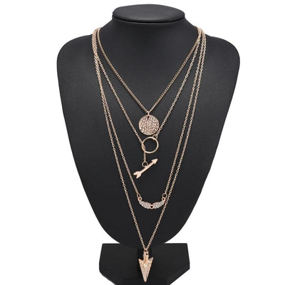 Multi Layer Hollow Crystal Sequins Necklaces & Pendant -  | Cosmetics Diary | Cosmetics Diary