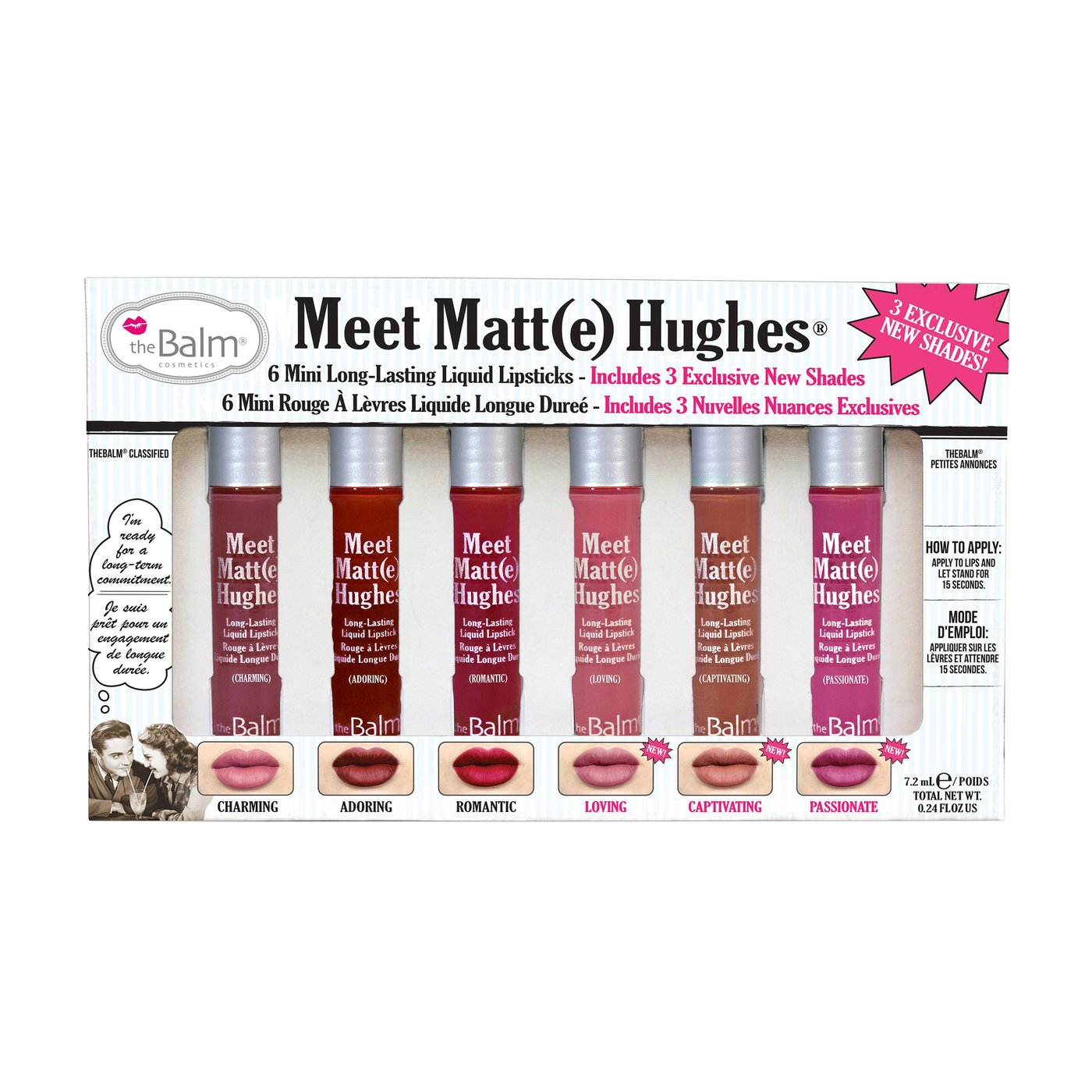 theBalm Meet Matte Hughes Lipsticks Kit - Vol 3