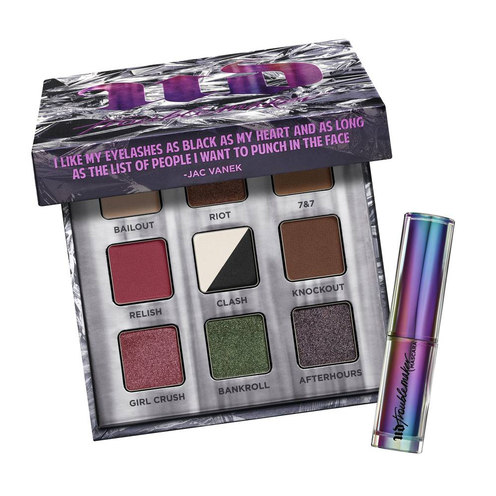 Urban Decay TROUBLEMAKER Eyeshadow Palette + Mascara