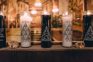 Custom printed Wedding prayer candles