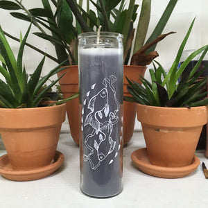 Pisces 7 day prayer candle - hand-poured coconut wax
