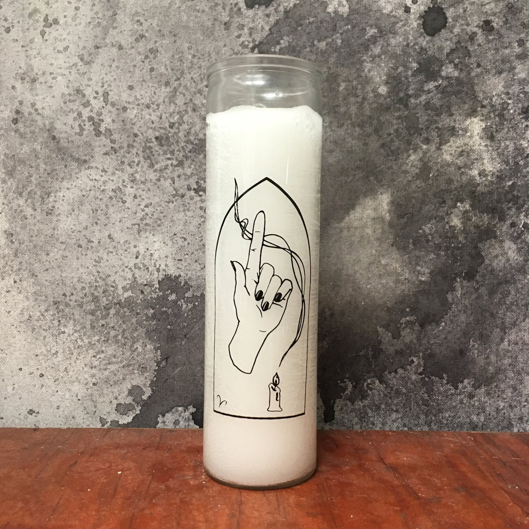 Aries handprinted zodiac prayer candle