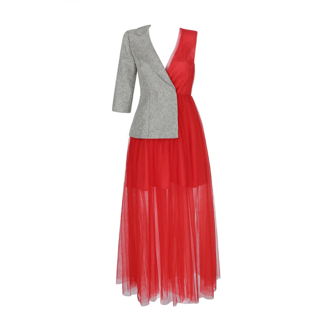 Marian Red Tulle Maxi Dress - DIOR BELLA