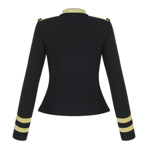Black Bandage Crop Blazer Jacket