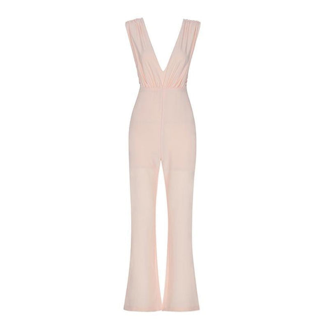 Kris Peachy V-Neck Jumpsuit - DIOR BELLA