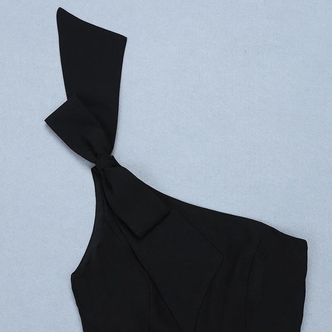 Marcy Black Bow On Shoulder Jumpsuit - DIOR BELLA
