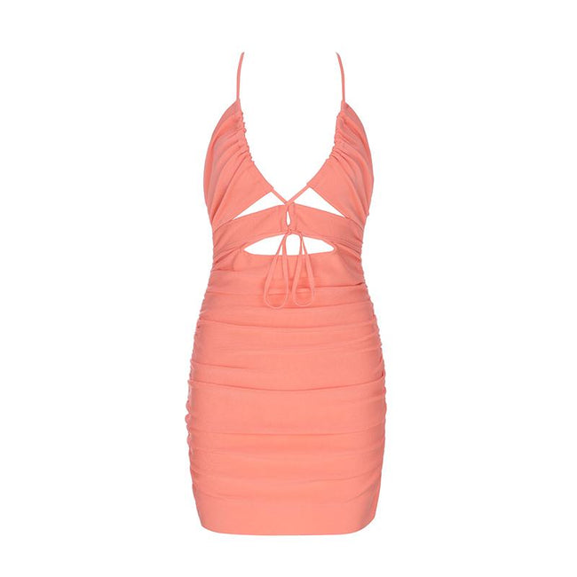 Rushed Cutout Bodycon Mini Dress - DIOR BELLA
