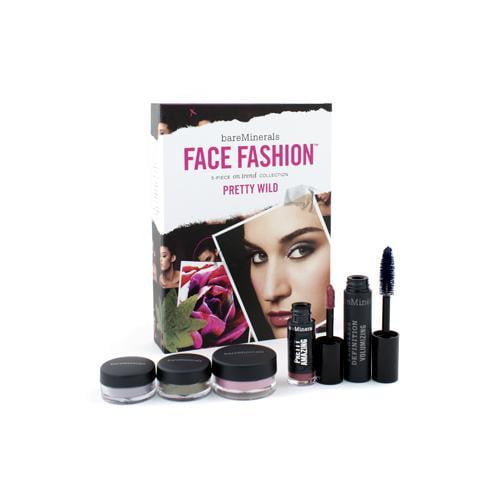 BareMinerals Face Fashion Collection (Blush + 2x Eye Color + Mascara + Lipcolor) - The Look Of Now Pretty Wild  5pcs - DIOR BELLA