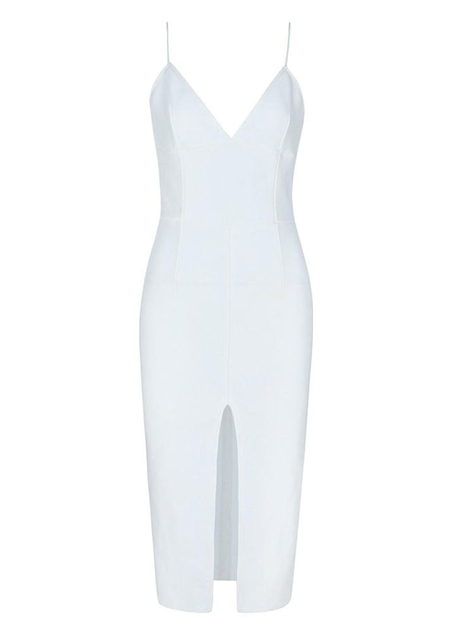 White Sweetheart Bandage Midi Dress - DIOR BELLA