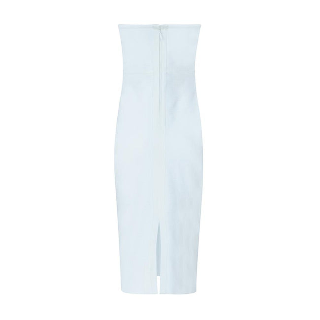 White Sweetheart Strapless Bodycon Mini Dress - DIOR BELLA