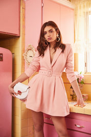 Bubblegum Pink Skater Dress - DIOR BELLA