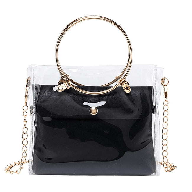 Transparent O-Ring Jelly Small Shoulder Bag