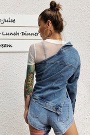 Urban Girl  One Shoulder Blue Denim Jacket