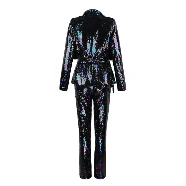 Midnight Sequins Pants And Jacket Suit - DIOR BELLA