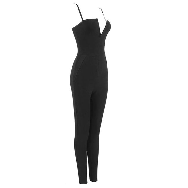 Back Sweetheart Bandage Jumpsuit