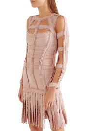 Tuli Fringe Cutout Mini Bandage Dress - DIOR BELLA