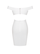 Naya White Cutout Bodycon Mini Dress - DIOR BELLA