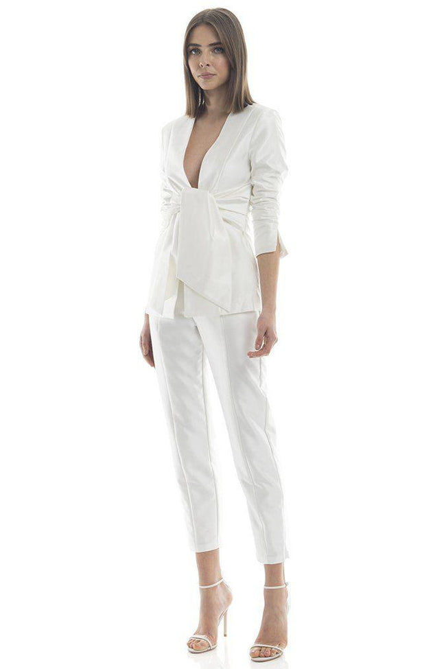 White High Waist Capri Dress Pants - DIOR BELLA