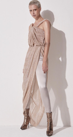 Gold Shimmer one Shoulder Maxi Dress - DIOR BELLA