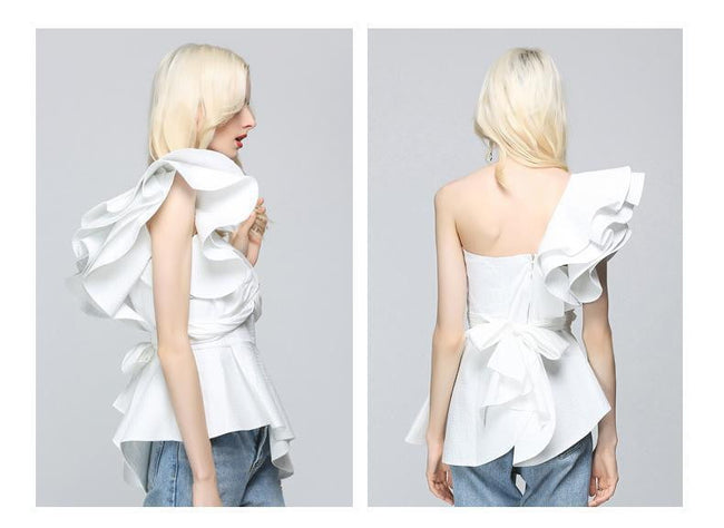 Letia Off Shoulder Ruffle Blouse - DIOR BELLA
