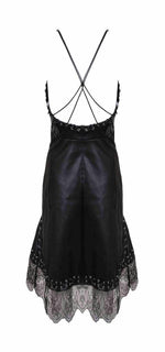 Rebecca Vegan Leather And Lace Dress - DIOR BELLA