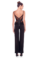 Trisha Black Lace Zipper Jumpsuit