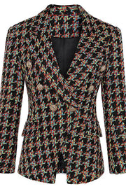 Plaid Double Breasted Blazer Jacket - DIOR BELLA