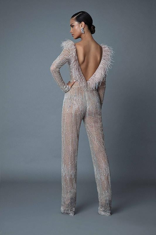 Dancing Queen Sequins and Feathers  Jumpsuit - DIOR BELLA
