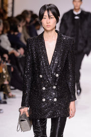 Black Sequins Blazer Mini Dress - DIOR BELLA
